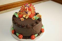 Photo of Chocolate Cake with Fondant Turkey. Thanksgiving Cakes, Thanksgiving Turkey, Fondant Cakes, Cupcake Cakes, Cupcake Ideas, Cupcakes, Homemade Chocolate, Chocolate Cake, Turkey Cake