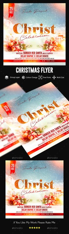 Christmas Flyer. Event flyer template. #flyer #design #printDesign #card #celebration #christmas #ChristmasBall #ChristmasFlyer #ChristmasParty #club #dark #event #gift #gifts #gold #golden #invitation #MerryChristmas #modern #night #poster #psd #ribbon #sparkling #template #unique #xmas #XmasFlyer #XmasParty Christmas Flyer, Christmas Balls, Note Fonts, Santa Dress, Event Flyer Templates, Xmas Party, Party Flyer, Print Templates, Flyer Design