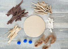 supplies for bird nest activity for preschoolers