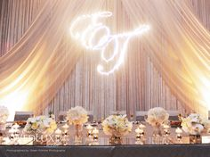 Beautiful Pin Lighting for your Reception -WedLuxe Magazine  Need Help?  Contact: ItheriasWeddings@aol.com