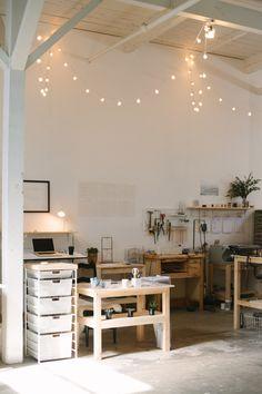 Home studio, interior exterior, art studios, workshop studio, home workshop Workshop Studio, Home Workshop, Workshop Ideas, Dream Studio, Home Studio, Studio Spaces, Interior And Exterior, Interior Design, Studio Interior
