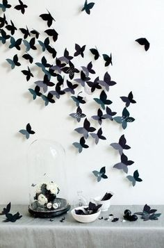 DIY Butterfly Decoration  How cool would these look if they were all 3Doodled?  #Decorate #Crafts #WhatWillYouCreate?