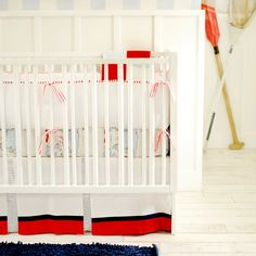 New Arrivals Crib Bedding Out to Sea Blue @Sarah Nasafi Grayce official crib bedding for baby boy:)