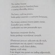 Znalezione obrazy dla zapytania szymborska wiersz