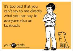 hilarious ecards tumblr | tagged as: facebook. funny. sarcastic. LOL. ecard. humor.