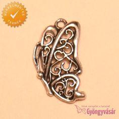 Ezüstszínű, filigrán pillangó - nikkelmentes fém fityegő Gemstone Rings, Gemstones, Jewelry, Jewlery, Gems, Jewerly, Schmuck, Jewels, Jewelery