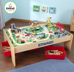 Personalized Waterfall Mountain Train Set and Table - DIBSIES