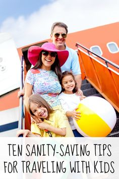 Like to travel, but too afraid to do it now that you have kids? Then this list of 10 sanity-saving tips for traveling with small kids is for you!