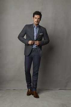 Style tip: Dress-up denim by adding a sportcoat. Perfect for a dinner date or casual Friday at the office.