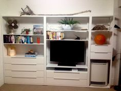 IKEA Fjalkinge storage wall, great for a beach house