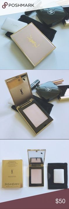 YSL • blur perfector I have mixed feeling about this product. I have super oily skin and it only worked a bit for me. It smells great and the texture is amazing though! Used roughly 4 times, sponge never used! Sanitised and has box and little dust pouch cover. Yves Saint Laurent Makeup