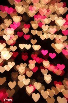 <3 heart-shaped bokeh