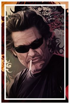 Fair Lady, Your Chariot Awaits by *jvetoe, Kurt Russell from Quentin Tarantino's Death Proof.