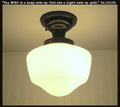 Machias. Ceiling LIGHT Fixture Replica School House - Mason Jar Light Fixture - The Lamp Goods - 1