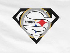 White Custom Pittsburgh Steelers Superman Tee Tshirt ...