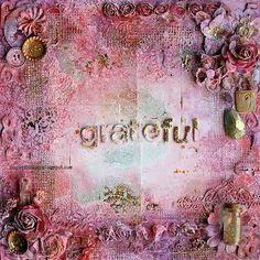 Grateful Canvas by Riikka Kovasin for Scrap Around The World