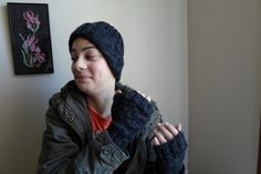 Hat  and fingerless gloves set. Knit  beanie by ATLASKNITSHOP, $49.00