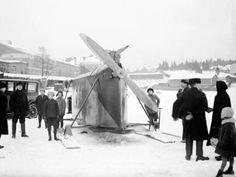 Ice Plane    Näsijärvi  Tampere Finland. 1928  photo by A Tamminen
