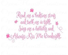 butterfly poems to my daughter   Read Me a Story Wall Decal - Poem Baby Nursery Always Kiss Me ...