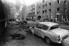 Leinster Street, aftermath of a loyalist bomb in Dublin Street, Dublin City, Emerald Isle, Dublin Ireland, Military Art, History Facts, Belfast, Northern Ireland, Old Photos