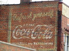 Morristown's famous Coca-Cola sign before it was re-done