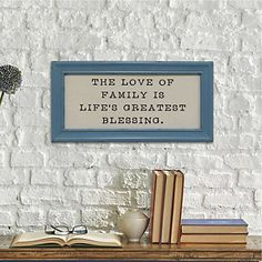"Stratton Home Decor ""Love of Family"" Linen Framed Wall Decor"