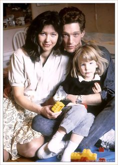 Björn with wife Suzanna, a Swedish poet, and their daughter Robine. 1989