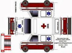 Resultado de imagen para paper toys ambulance