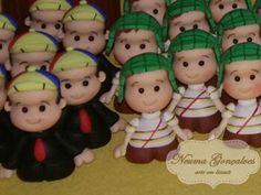 Chaves Miniatura em biscuit - Neuma Gonçalves