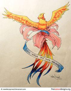 Phoenix tattoo drawing