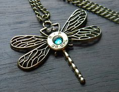 Dragonfly Bronze Bullet Necklace Bullet Casing Jewelry, Bullet Necklace, Men Necklace, Diy Crafts Jewelry, Jewelry Art, Unique Jewelry, Jewlery, Shotgun Shell Jewelry, Ammo Art