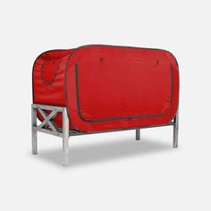 The Bed Tent for Better Sleep during naptime, bedtime, playtime and alone time. Available in multiple colors and sizes. Van Conversion Interior, Camper Van Conversion Diy, Floor Bed Frame, Futon Bed, Girl Bedroom Designs, Bedroom Ideas, Bed Tent, Bed Springs, Types Of Beds
