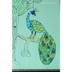 Beautiful Peacock design wall art for yor sweet home.