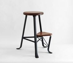 Vintage Industrial Step Ladder - Stool, Mid Century, Modern, Antique, Wood…