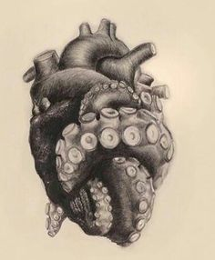 Tentacle Heart Drawn By The Talented Art Realisme