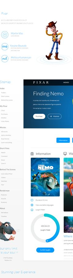 Pixar  Motion Graphics, UI/UX, Web Design
