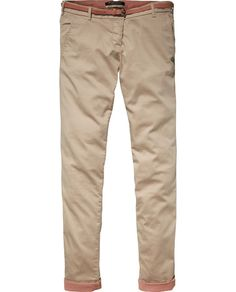 Stretch-Chino mit Gürtel - Scotch & Soda
