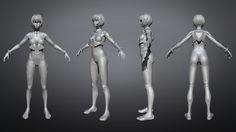 ArtStation - Evangelion : Rei Ayanami (Plugsuit), Anh-Kim Rémy LE