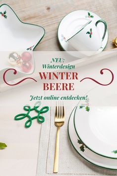 Ob als Speisegedeck oder Kaffeeservice - Unsere Winterbeere macht sich perfekt am Weihnachtstisch 🤩🎄 #gmundnerkeramik #handgefertigt #handmade #madeinaustria #österreich #austria #winterbeere #winterberry #illex