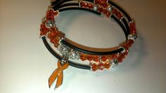 Renal/kidney cancer beaded wrap