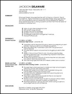 Resume Language Proficiency Cool Qualifications  Pinterest  Template Sample Resume And Resume Examples
