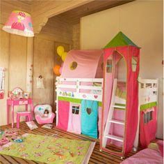 dormitorios con cama litera para ninos1 Dormitorios para Niños con Casitas Modernas