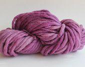 Lilac Color Chunky Hand  Spun Hand Dyed  Roving Wool Hand Knitting Yarn