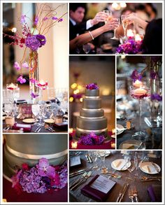 Purple and Silver Wedding in Chicago by Heather Parker Photography | Done Brilliantly