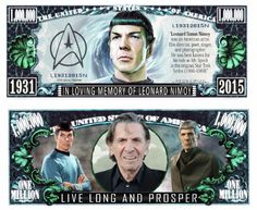 10 Star Trek 50th Anniversary   Dollar Bills -NOVELTY-FAKE-MONEY Space U