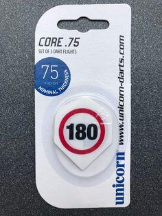 Set of 3 Dice 75 Micron Dart Flights by Unicorn Standard Shape Free P/&P
