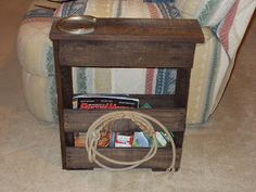 Pallet Project   Magazine Rack/End Table. I Needed Something Narrow For The  End
