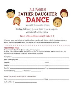 Father Daughter Dance flier   @Yvonne Santos