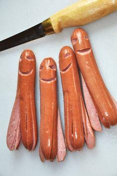 Hot dog squids!