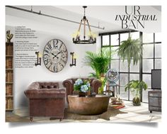 """""""Industrial Home Decor"""" by craftygeminicreation ❤ liked on Polyvore featuring interior, interiors, interior design, home, home decor, interior decorating, NDI, Zuo, Pinch and VIP International"""